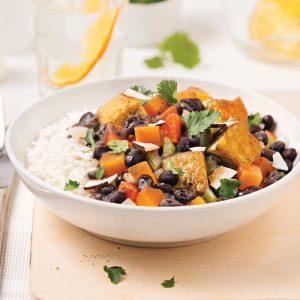 Mijoté végé aux haricots noirs et tofu