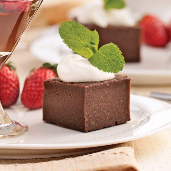 Carrés fudge au chocolat noir et Bailey's