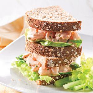 Sandwichs express à la salade de crevettes