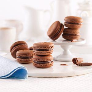 Macarons classiques au chocolat