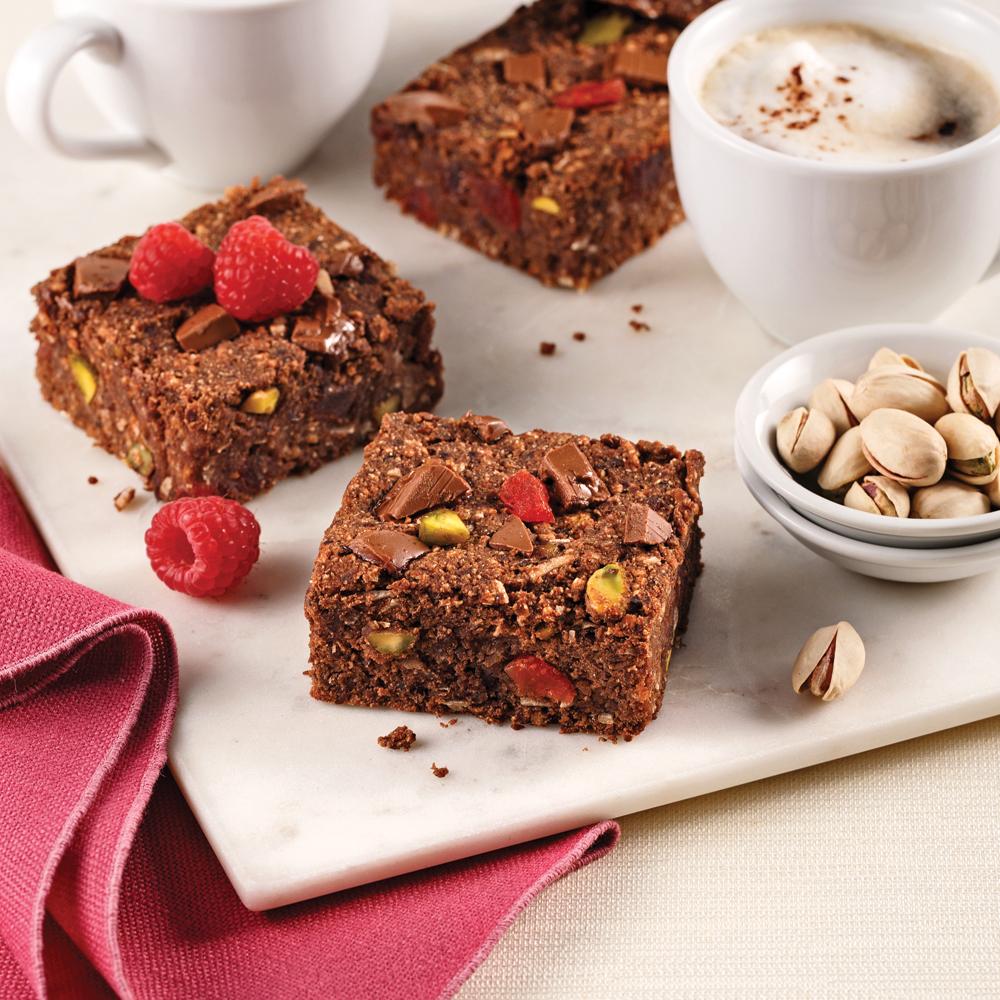 Carrés protéinés au chocolat et haricots noirs