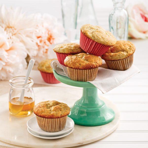 Muffins ricotta, citron et graines de chia