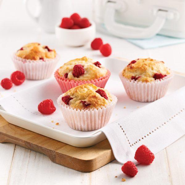 Muffins santé framboises et citron