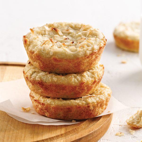 Petits pains à la noix de coco et abricots