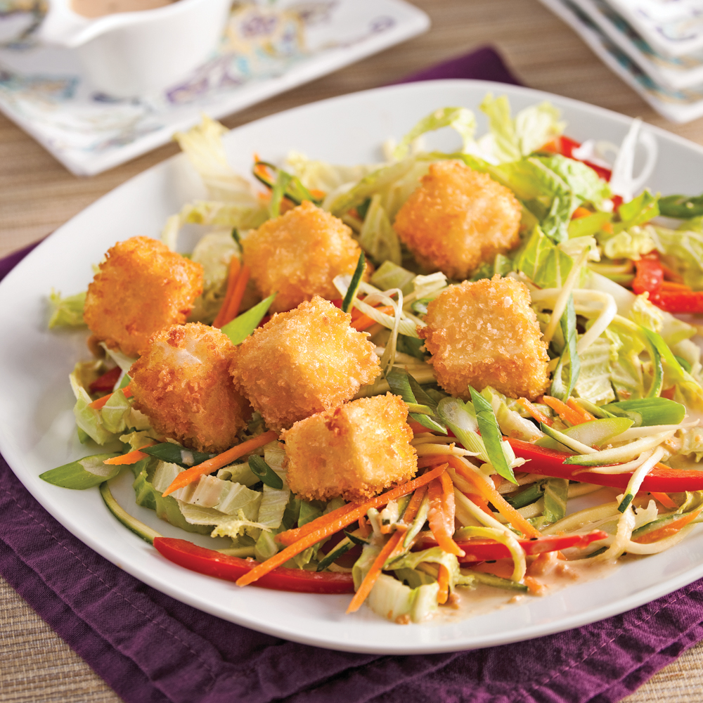Salade thaï au tofu croustillant
