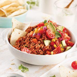 Chili végétarien sans cuisson