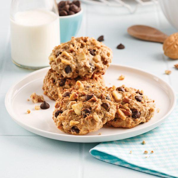 Biscuits moelleux bananes et chocolat