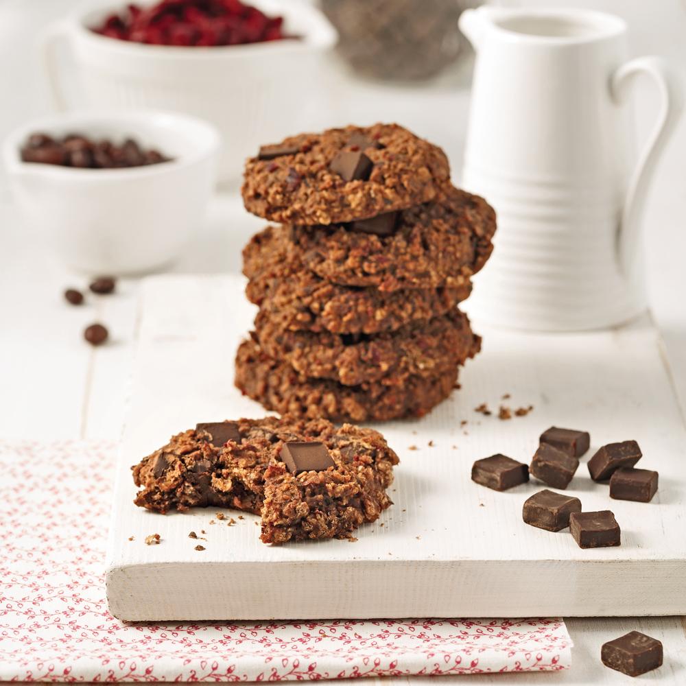 Biscuits aux deux haricots et chocolat