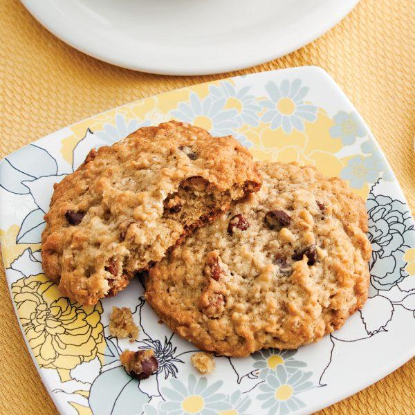Biscuits à l'avoine, pacanes et chocolat