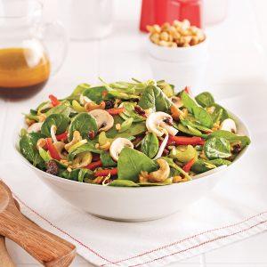 Salade d'épinards à la chinoise