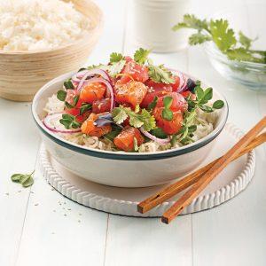 Poke bowl duo thon et saumon