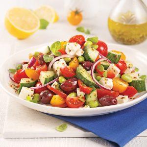 Salade grecque feta et edamames