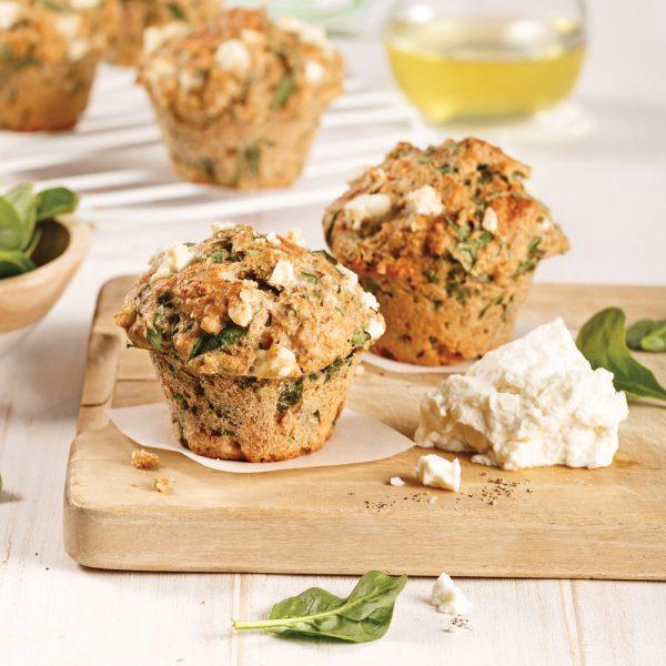 Muffins aux épinards et feta