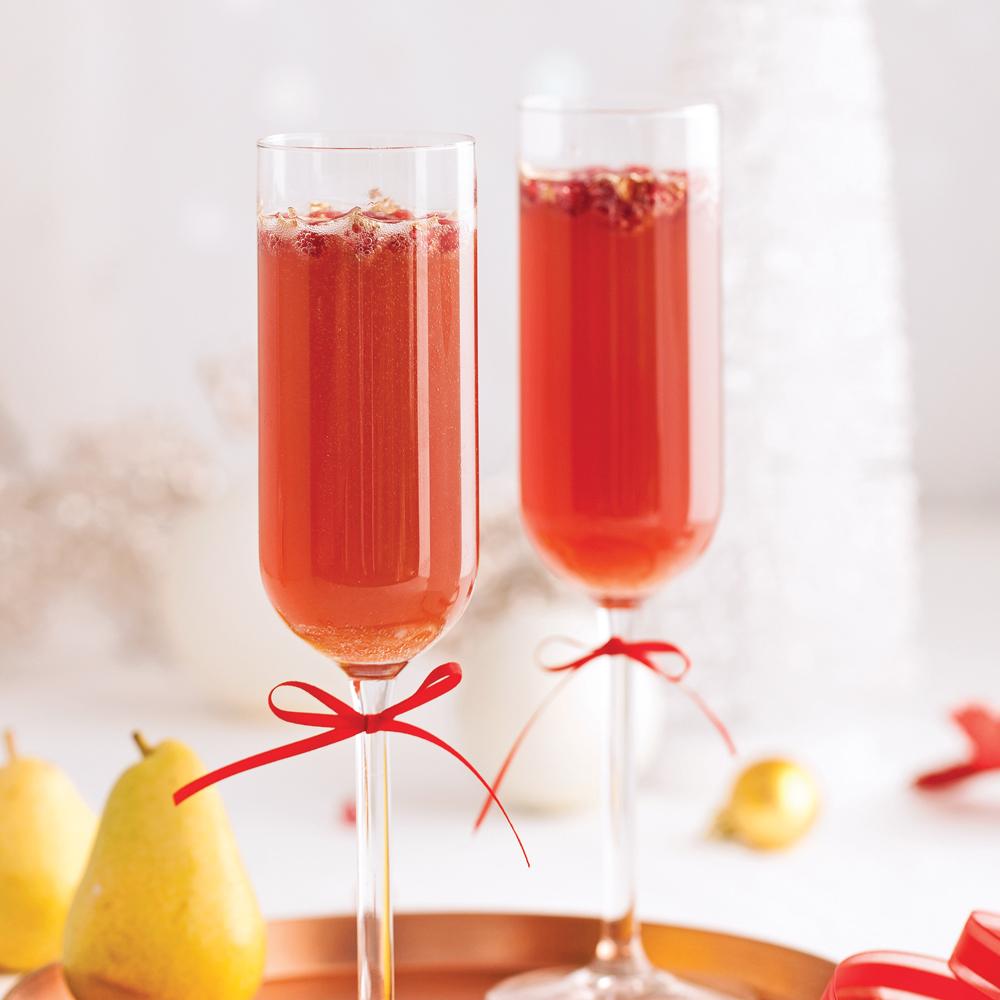 Cocktail effervescent aux poires