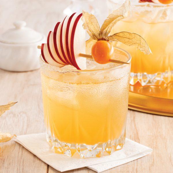 Cocktail pomme et bourbon