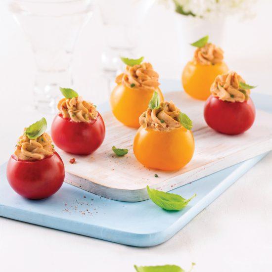 Mini-tomates colorées farcies