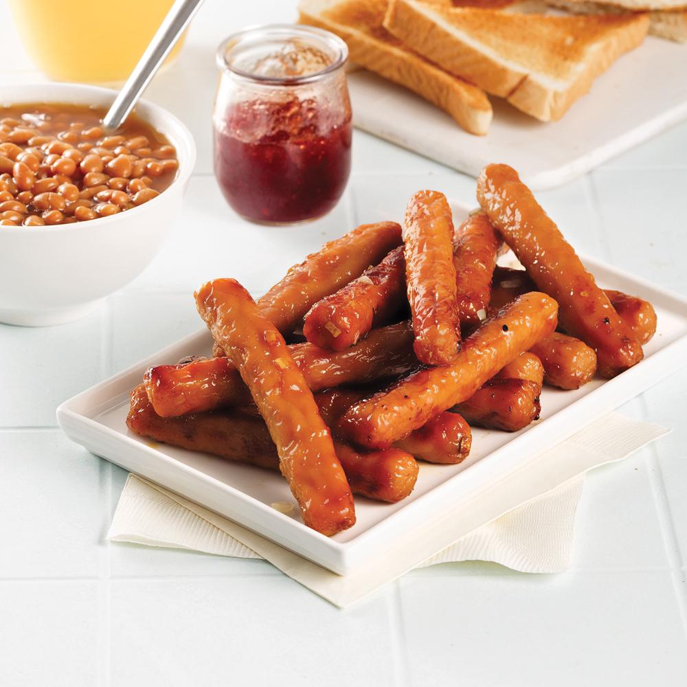 Saucisses déjeuner au four