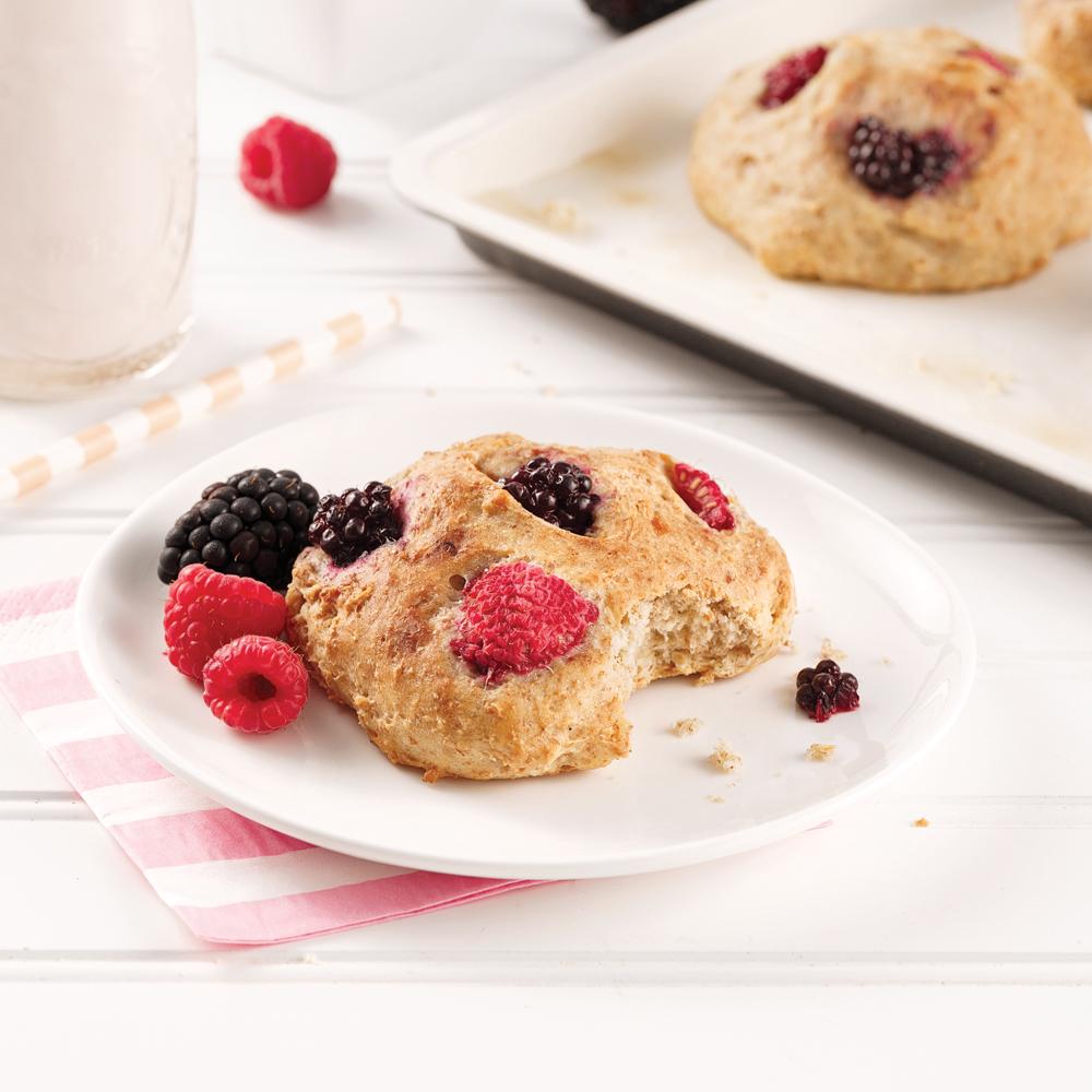 Biscuits déjeuner aux petits fruits