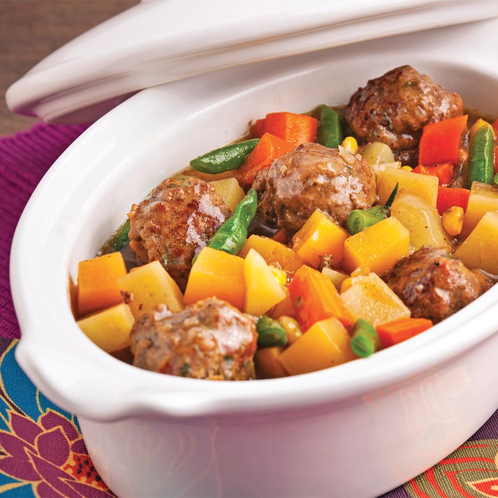Ragoût de boulettes aux légumes