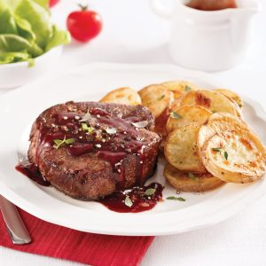 Filet mignon, sauce au vin rouge