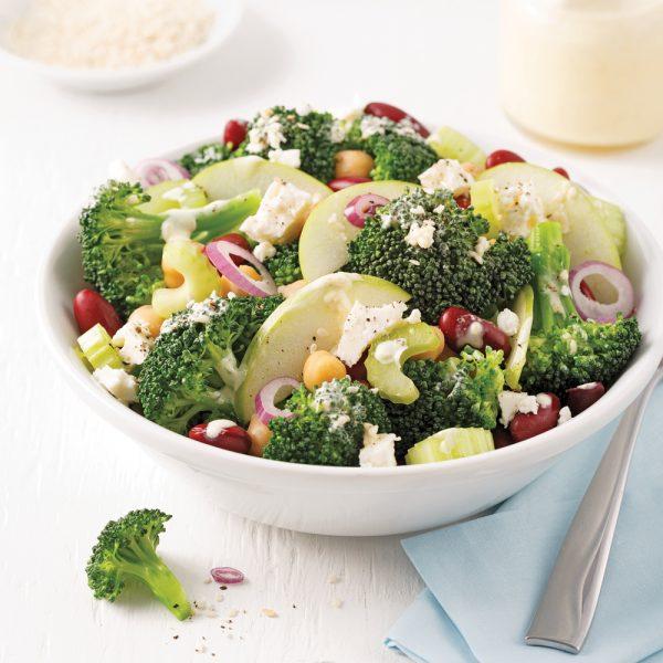 Salade de brocoli et légumineuses