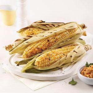 Maïs grillé avec beurre parfumé