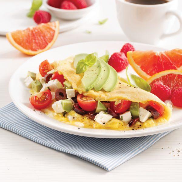 Omelette colorée