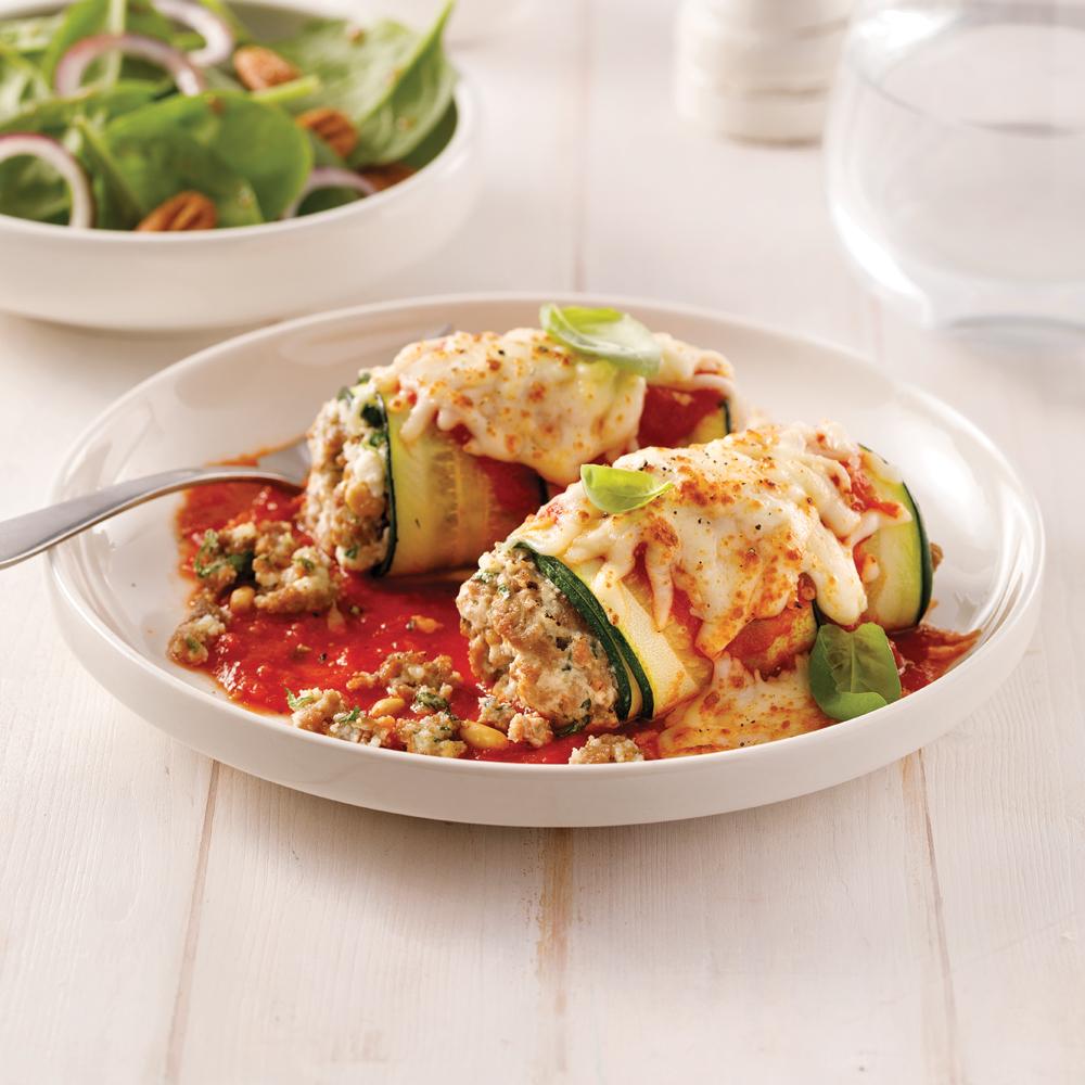Rouleaux de courgettes façon lasagne