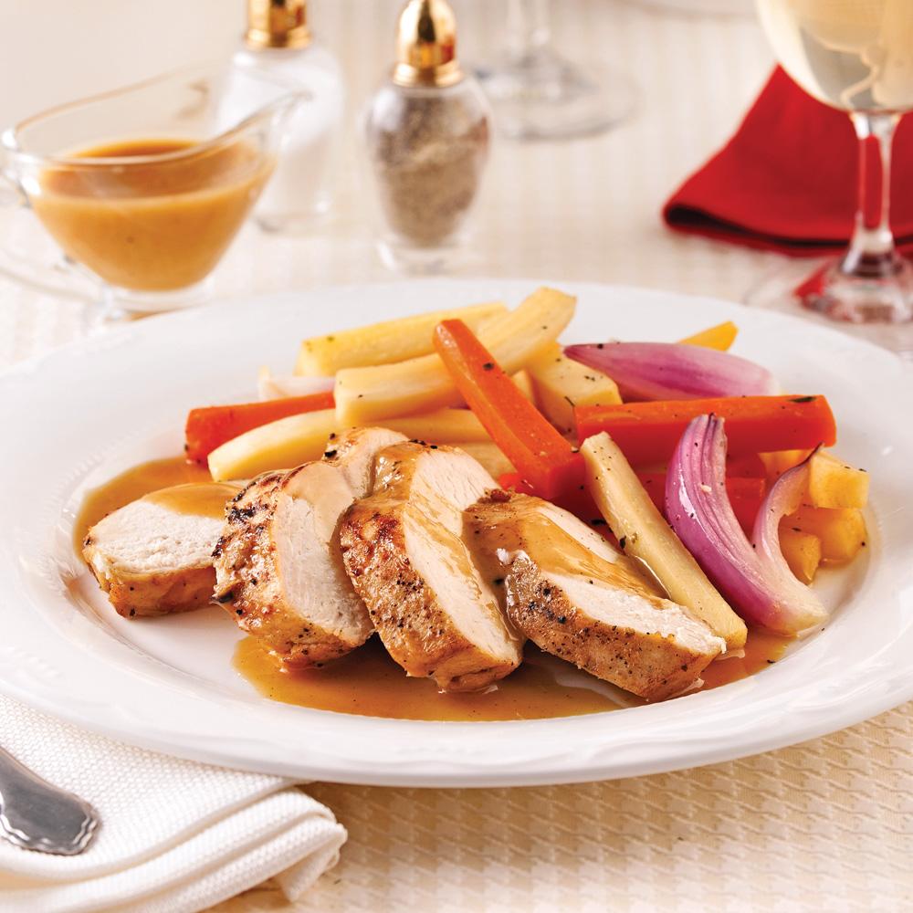 Vrai ou faux ? La dinde est plus maigre que le poulet, le boeuf et le porc.