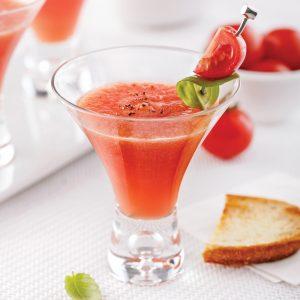 Martini de melon et de tomate