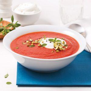 Soupe aux tomates et haricots rouges