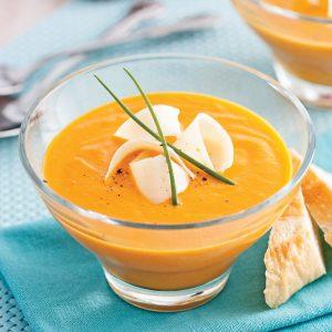 Crème de carottes et cheddar doux