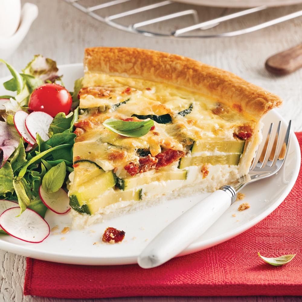 Quiche au fromage et courgettes