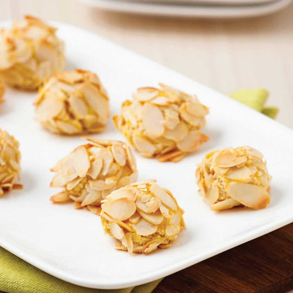Bouchées amandes et orange faciles
