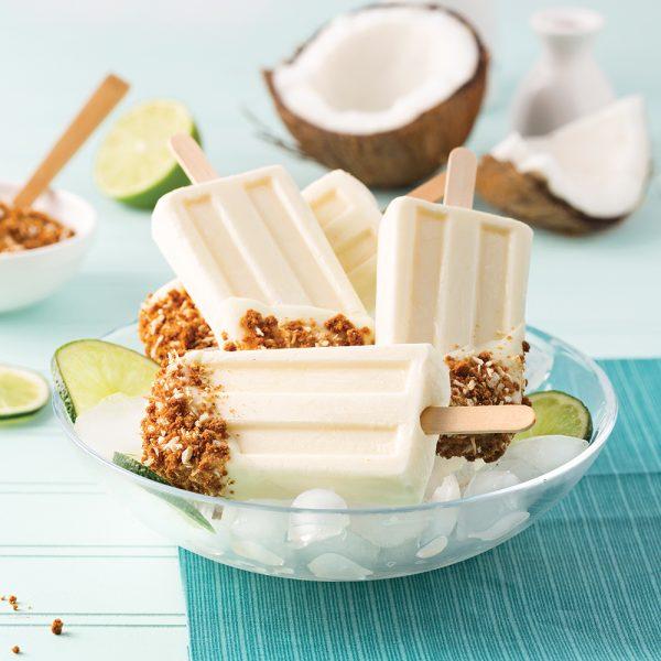 Popsicle croquant à la noix de coco