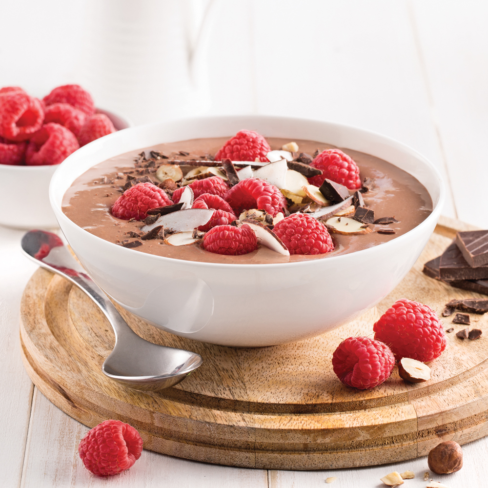 Smoothie bowl chocolaté