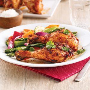 Pilons de poulet barbecue au paprika fumé
