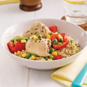 Mijoté de quinoa au poulet et aux légumes