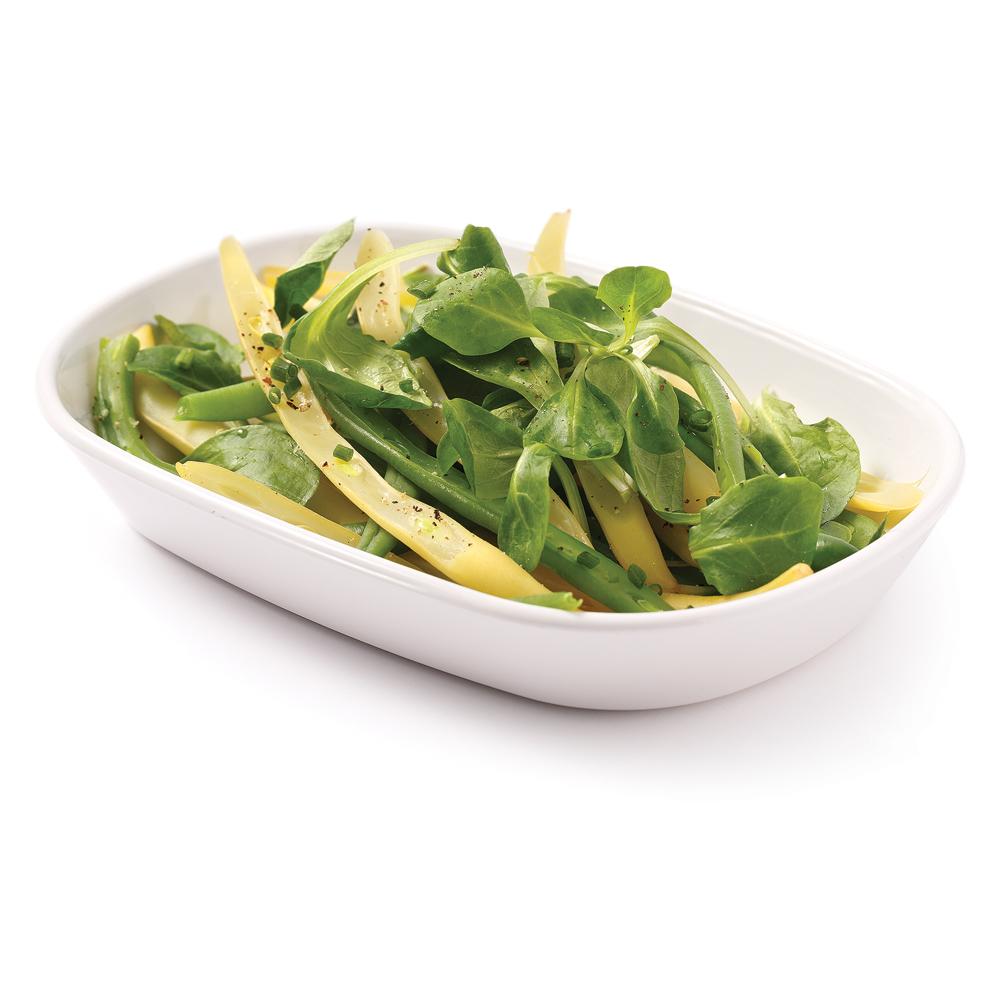 Salade de mâche et haricots