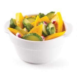 Salade de mangues et concombre