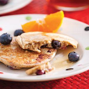 Pancakes aux bleuets sans gluten