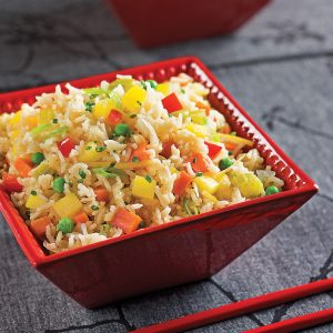 Riz basmati aux légumes cuit au four