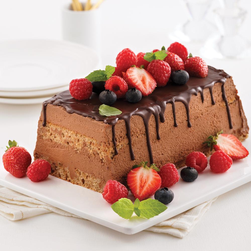 Bûche allégée au chocolat