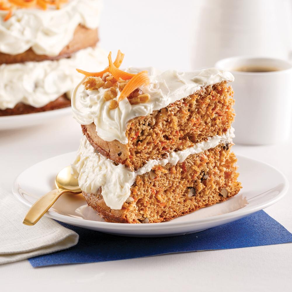 Gâteau aux carottes allégé