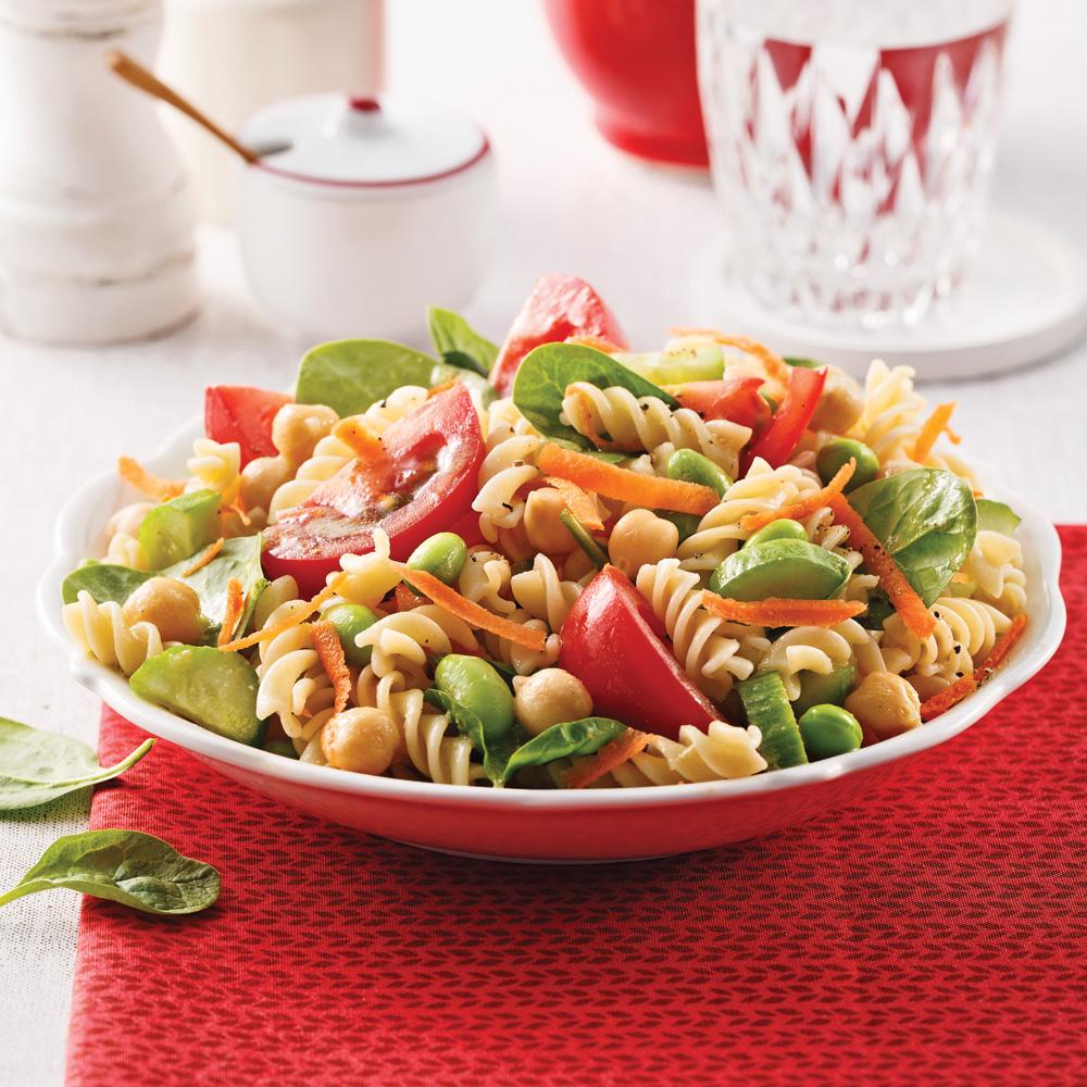 Salade de pâtes aux légumineuses
