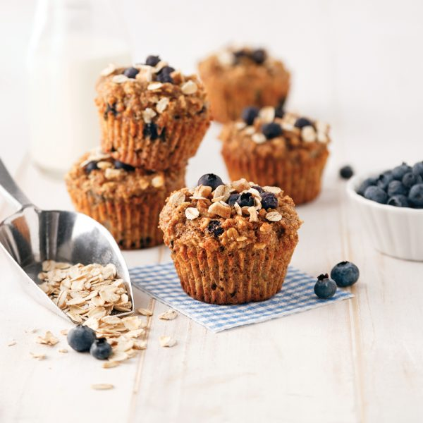 Muffins aux bleuets et poire