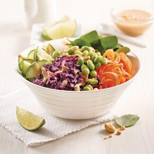 Salade aux edamames à la thaïe
