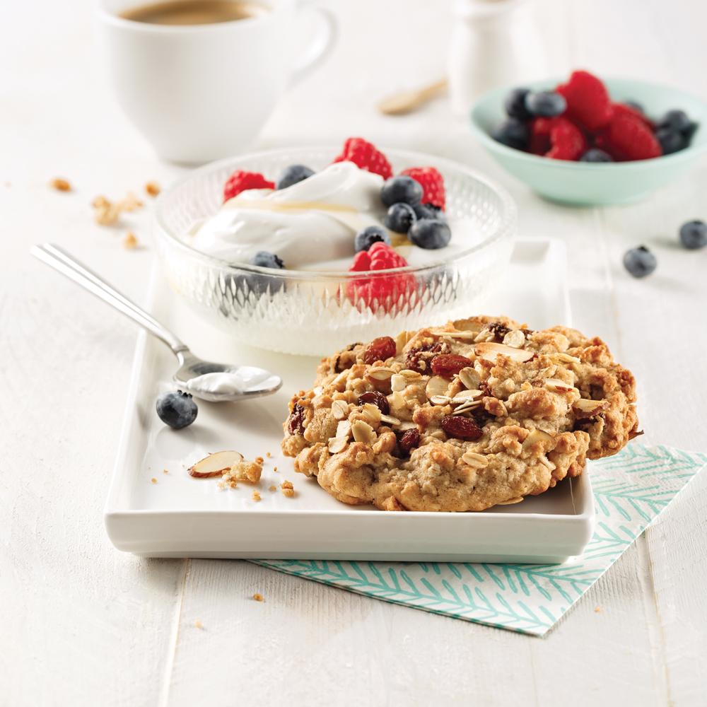 Biscuits déjeuner à l'avoine et raisins secs