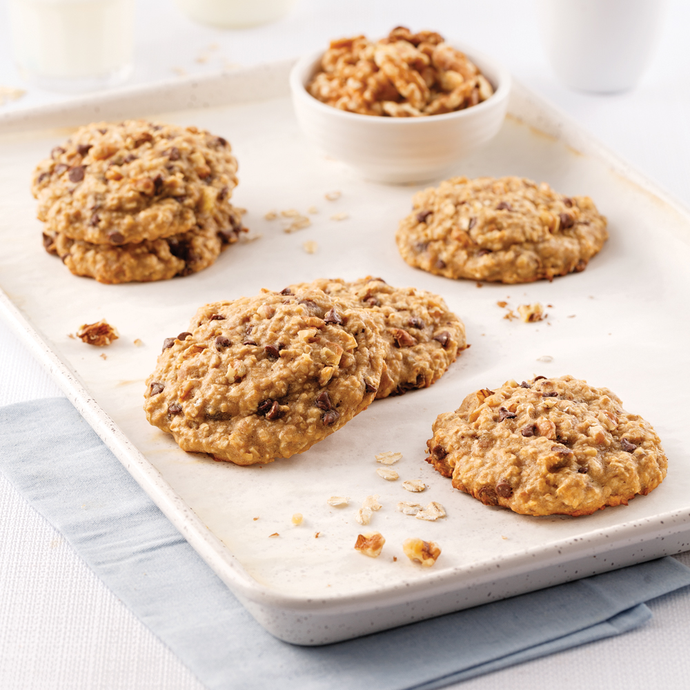 Biscuits déjeuner aux bananes et chocolat