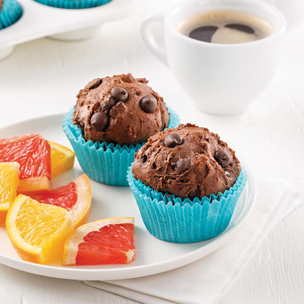 Muffins aux avocats et cacao